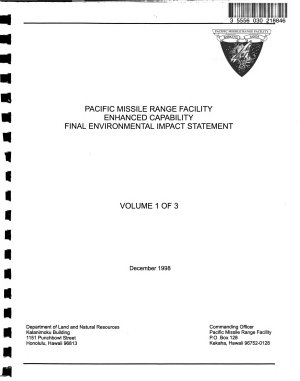 Pacific Missile Range Facility  Enhanced Capabilities  To Accommodate Theater Ballistic Missile Defense  TBMD  Training   Testing and Theater Missile Defense  TMD  Testing