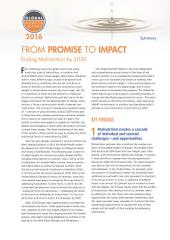Global Nutrition Report 2016: From Promise to Impact: Ending Malnutrition by 2030: Summary