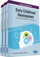 Early Childhood Development  Concepts  Methodologies  Tools  and Applications PDF
