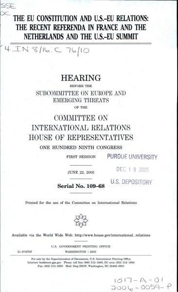 The EU Constitution and U S  EU Relations PDF
