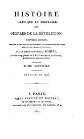Histoire critique et militaire des guerres de la Révolution: Campagne de 1795