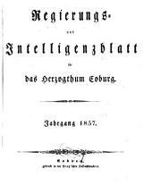 Regierungs- und Intelligenzblatt für das Herzogtum Coburg: 1857