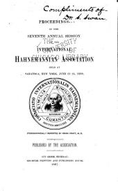 Proceedings of the ... Annual Session of the International Hahnemannian Association ...