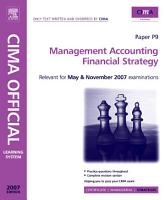 Management Accounting   Financial Strategy PDF