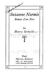 Suzanne Normis: roman d'un père