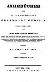 Jahrbücher der in- und ausländischen gesammten Medecin: Band 19