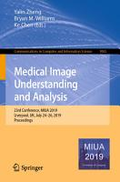 Medical Image Understanding and Analysis PDF