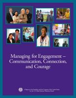 Managing for Engagement    Communication  Connection  and Courage PDF