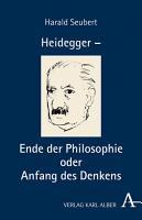 Heidegger   Ende der Philosophie und Sache des Denkens PDF