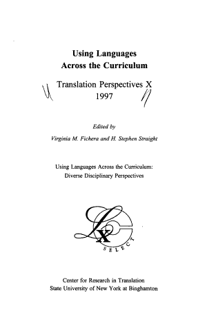 Translation Perspectives  Using languages across the curriculum PDF