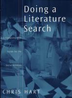 Doing a Literature Search PDF