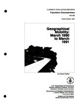 Geographical mobility: Issue 463