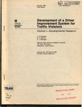 Development of a Driver Improvement System for Traffic Violators: Volume 1