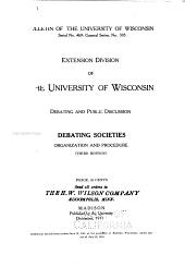 Debating Societies; and Organization and Procedure