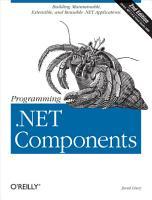 Programming  NET Components PDF