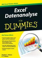 Excel Datenanalyse f  r Dummies PDF