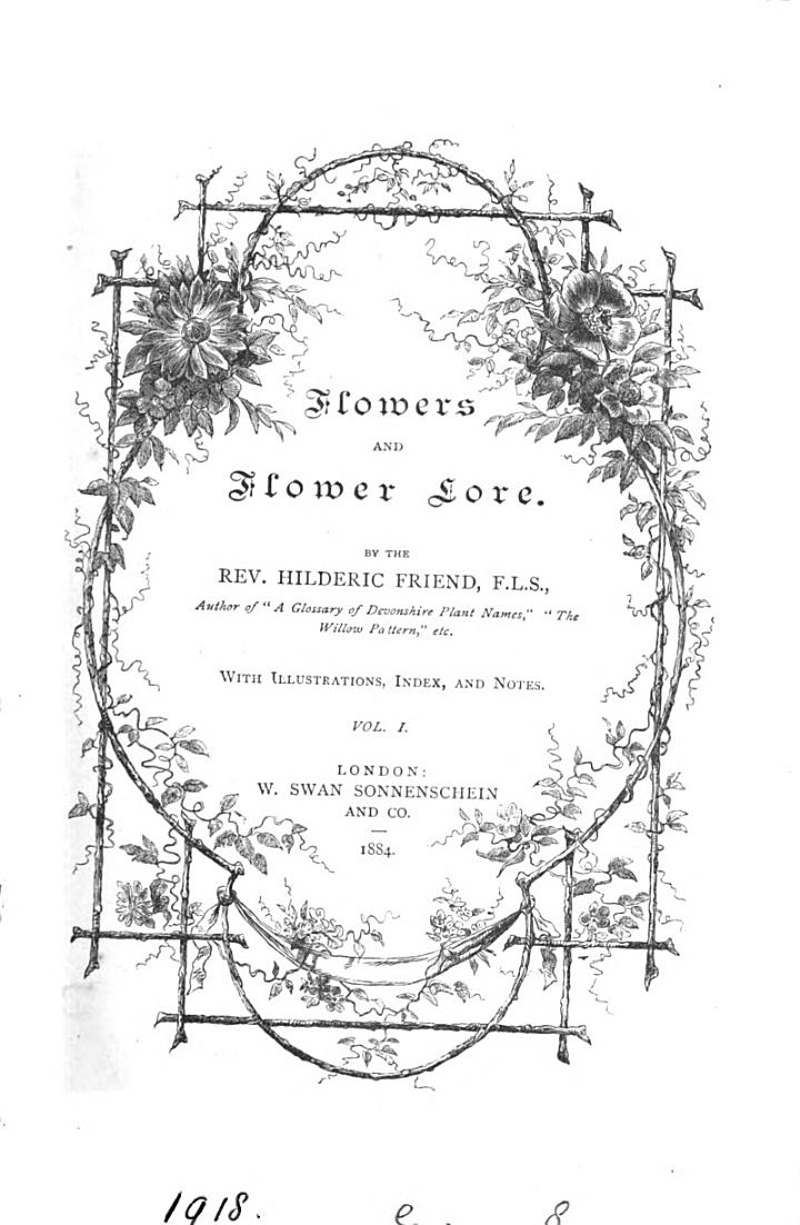 Flowers and Flower Lore