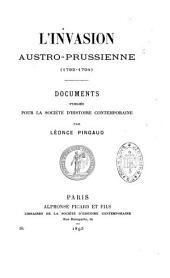L'invasion austro-prussienne: 1792-1794