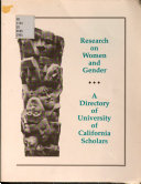 Research on Women and Gender PDF