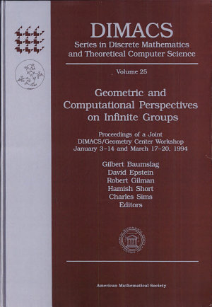 Geometric and Computational Perspectives on Infinite Groups PDF
