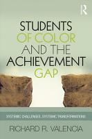 Students of Color and the Achievement Gap PDF