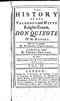 The History of the Valorous and Witty Knight errant Don Quixote of the Mancha 4 PDF
