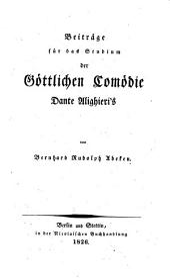 Beiträge für das Studium der Göttlichen Comödie Dante Alighieri's