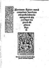 Uberrimum Sphere mundi Commentum Petri Circuelli