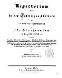 K  niglich Bayerisches Intelligenz Blatt f  r Oberfranken PDF