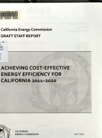 Achieving Cost effective Energy Efficiency for California 2011 2020 PDF