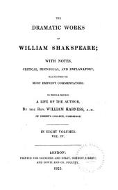 The Dramatic Works of William Shakspeare: Comedy of errors. Macbeth. King John. King Richard II. King Henry IV, part 1