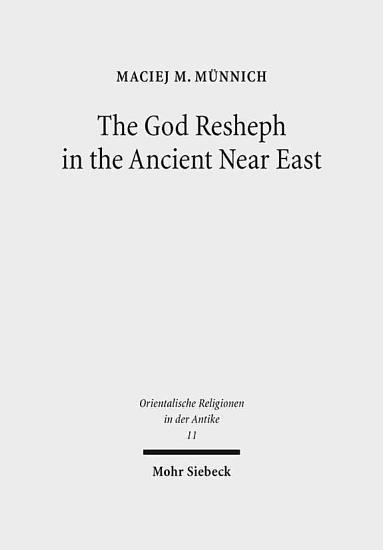 The God Resheph in the Ancient Near East PDF