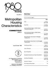 1980 census of housing: Metropolitan housing characteristics. Connecticut