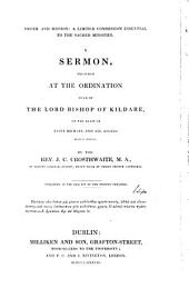 Order and mission, a limited commission essential to the sacred ministry, a sermon: Volume 14
