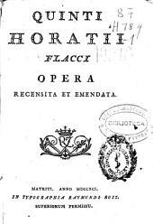 Quinti Horatii Flacci Opera