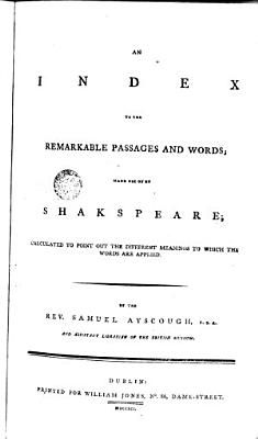 An Index to the Remarkable Passages and Words