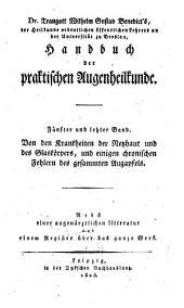 Handbuch der praktischen Augenheilkunde: Band 5