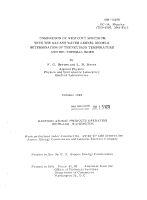 Comparison of Westcott Spectrum with the Gas and Water Kernel Models PDF