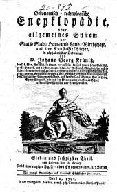 Oekonomische encyklopädie: Band 67