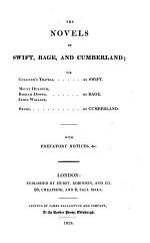The Novels of Swift, Bage, and Cumberland; Viz. Gulliver's Travels
