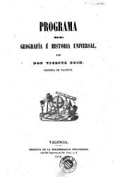 Programa de geografía é historia universal