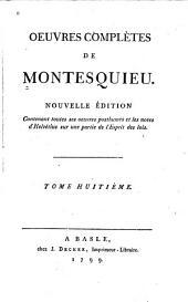Oeuvres complètes de Montesquieu: Volume8