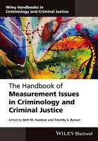 The Handbook of Measurement Issues in Criminology and Criminal Justice PDF