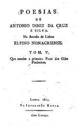 Poesias: na Arcadia de Lisboa, Elpino Nonacriense, Volume 5