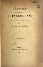 Mémoires du prince de Talleyrand: Volume5