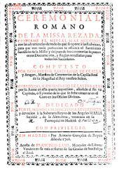 Ceremonial romano de la missa rezada conforme el missal mas moderno ...