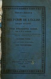 Bibliothèque choisie des pères de l'église grecque et latine, ou Cours d'éloquence sacrée: Volume22