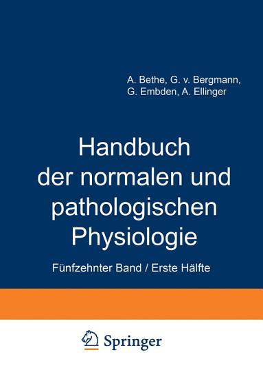 Handbuch der normalen und pathologischen Physiologie PDF