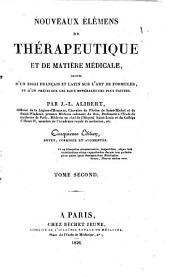 Nouveaux Elemens de Therapeutique et de Matiere Medicale