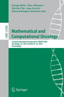 Mathematical and Computational Oncology